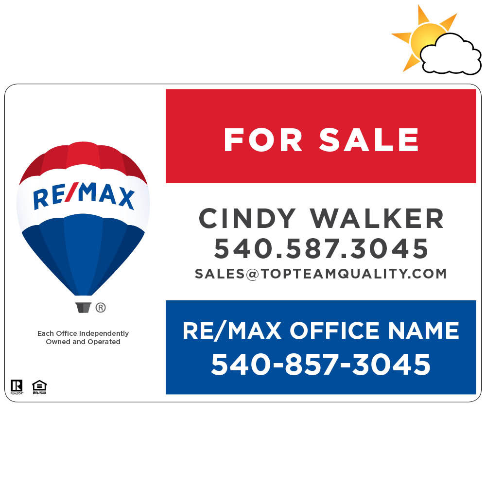 "RE/MAX 18"" x 12"" Car Magnet"