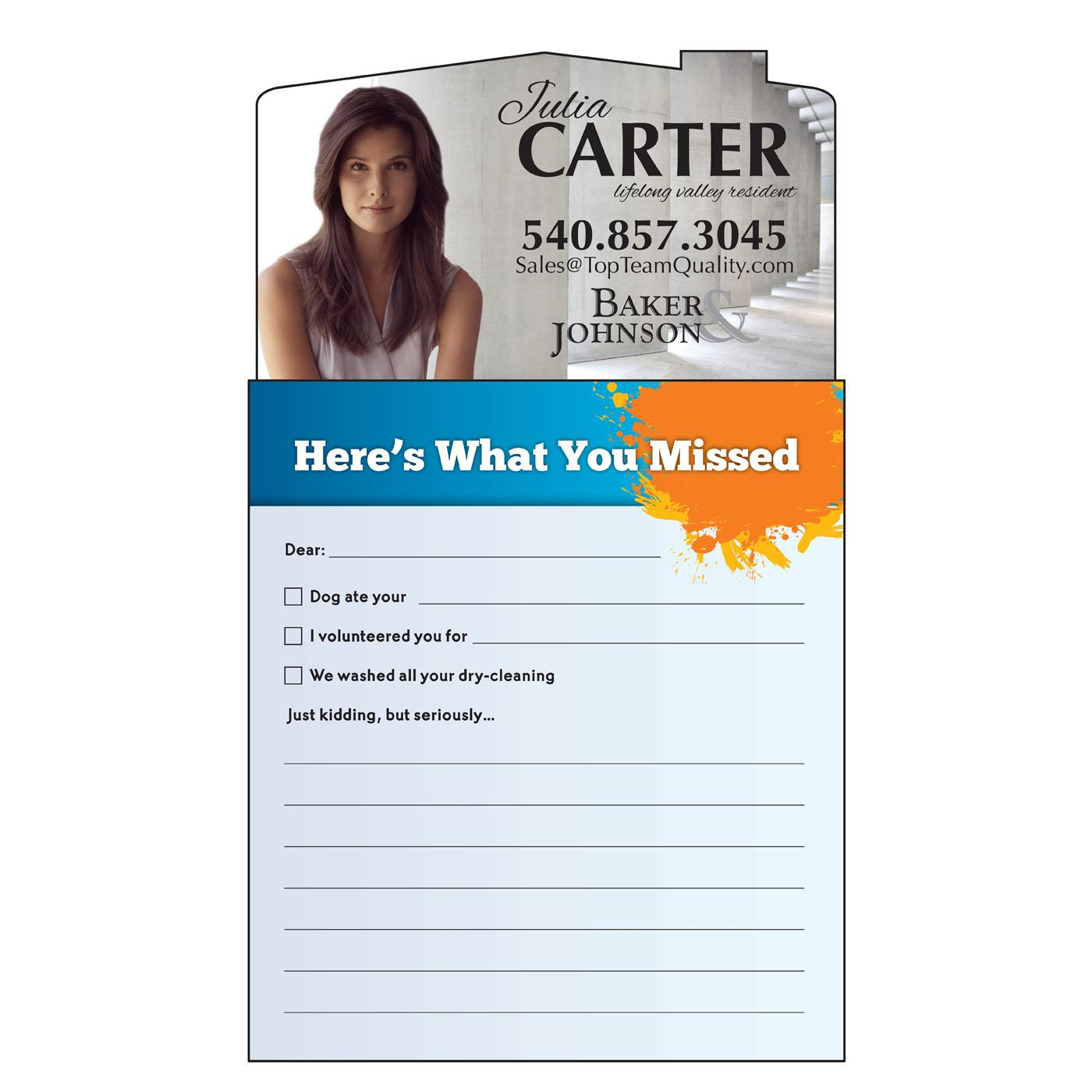 magnetic notepad for mailing