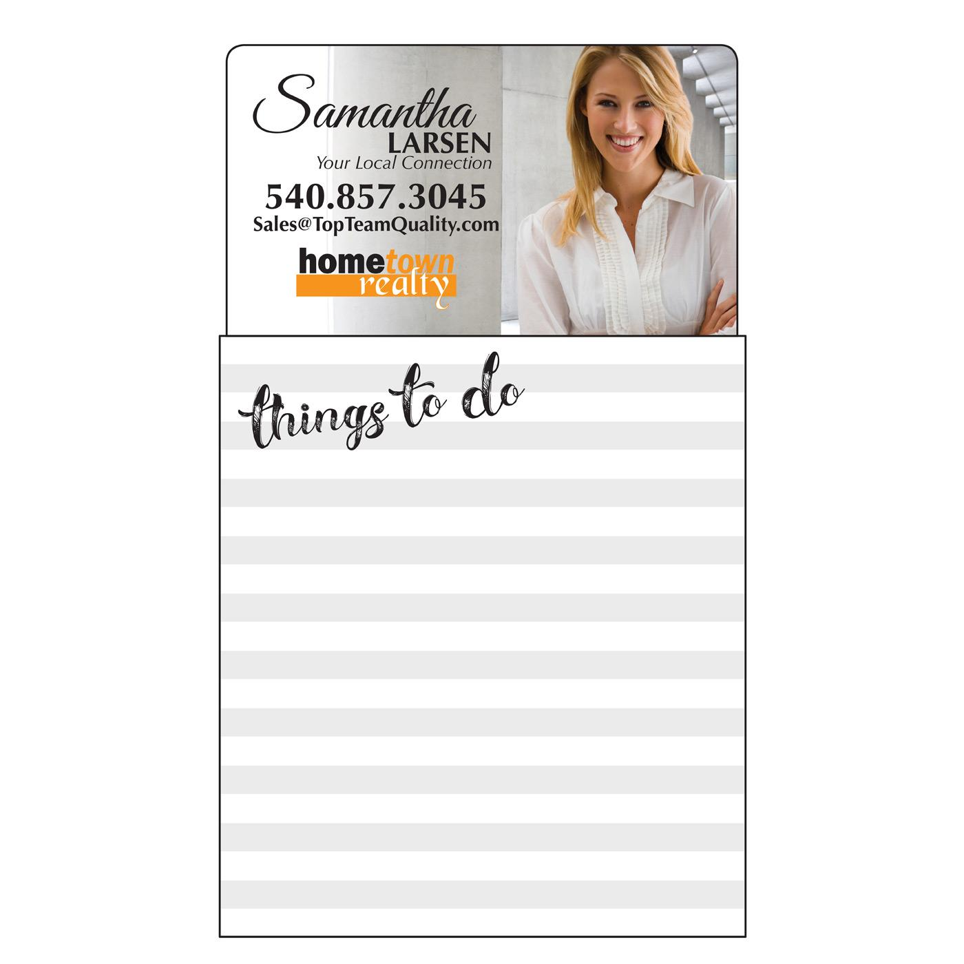 notepad with personalized magnet