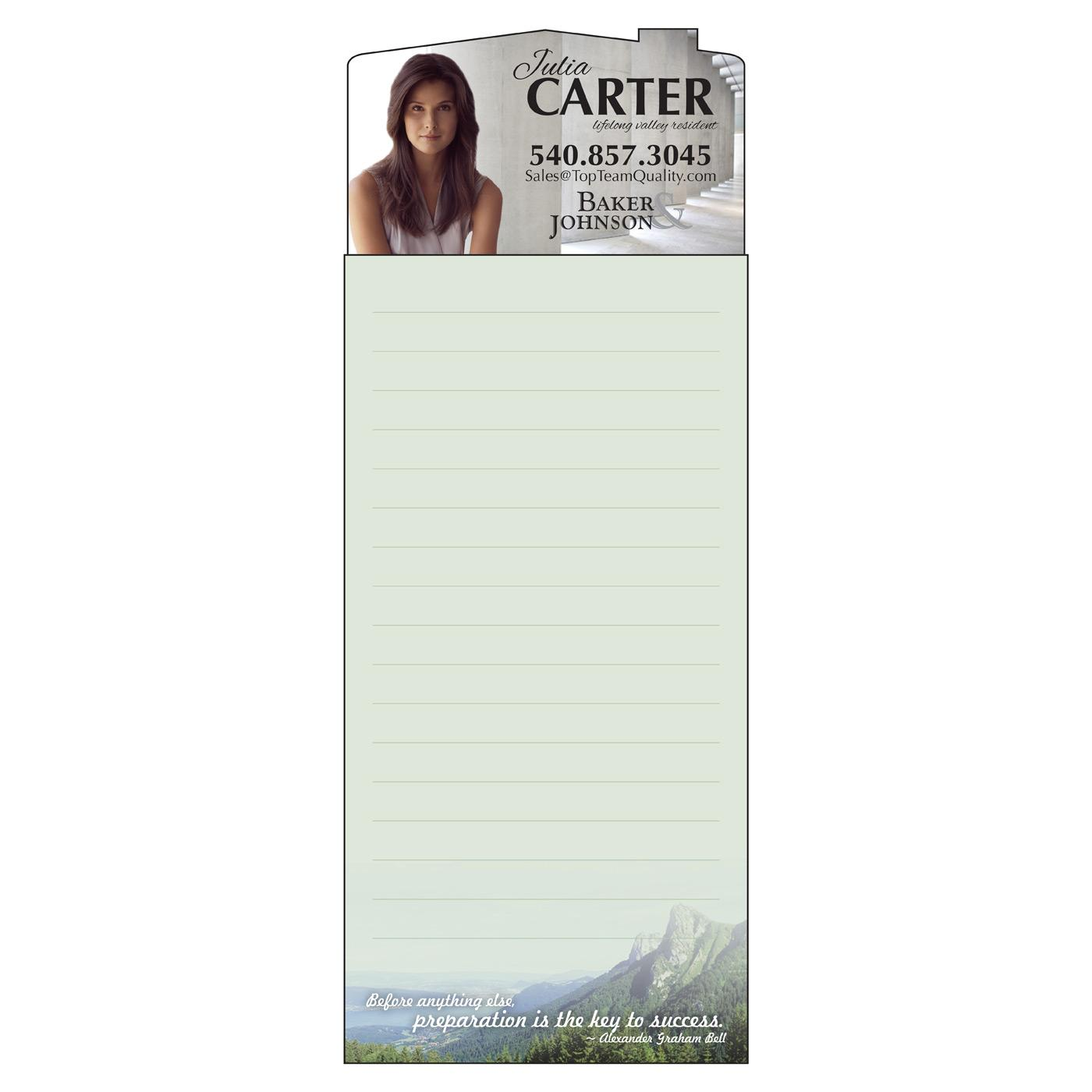 Long Designer Magnetic Notepad