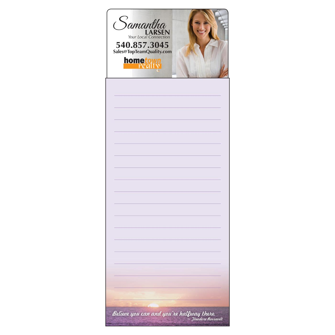 long magnetic notepad with quotes