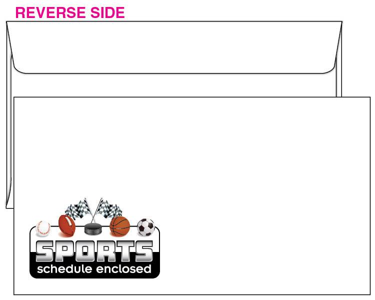 Sports schedule envelope