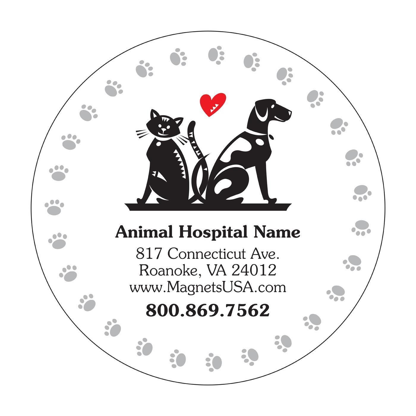 Paw Prints Veterinary Fridge Magnet