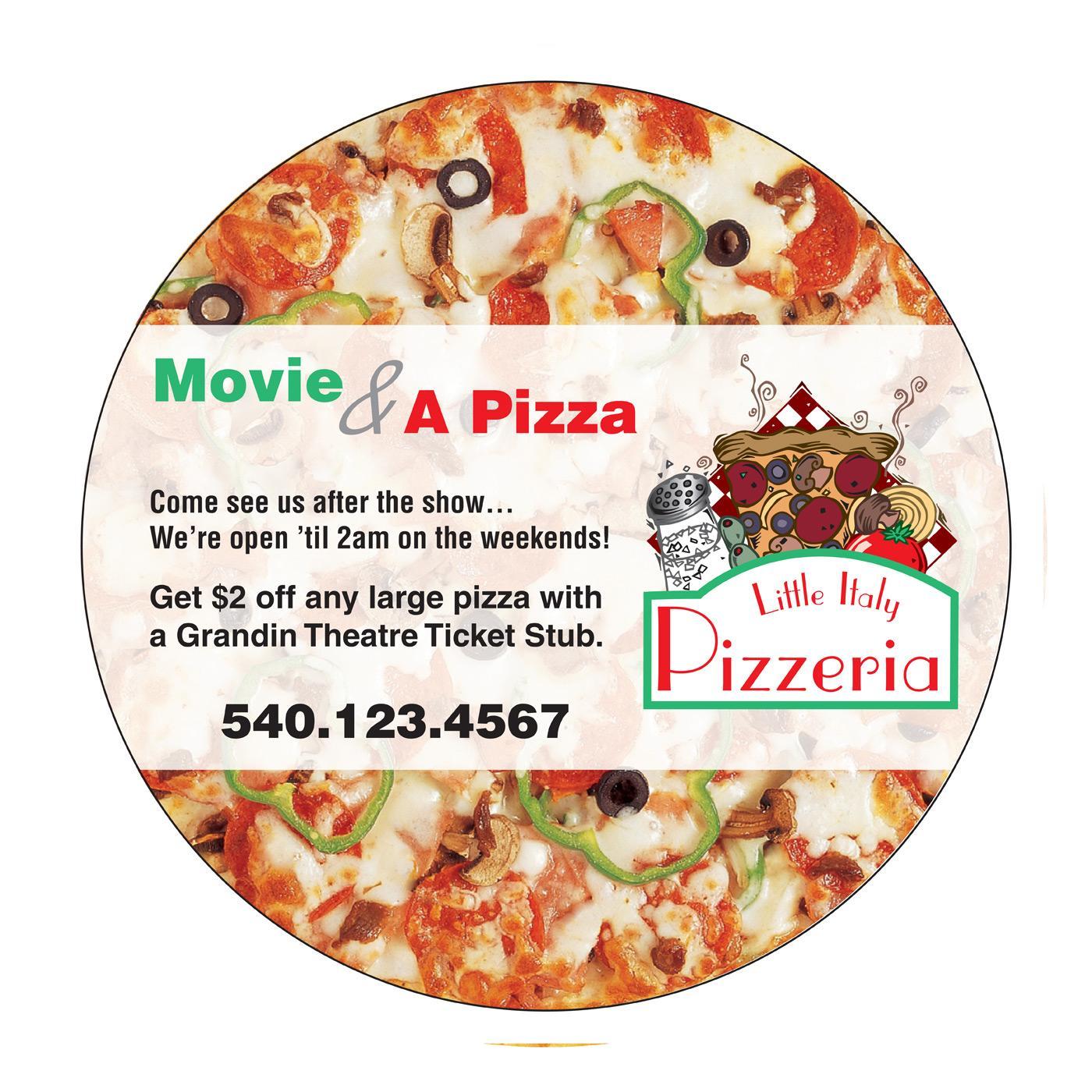 Round Pizza Refrigerator Magnet