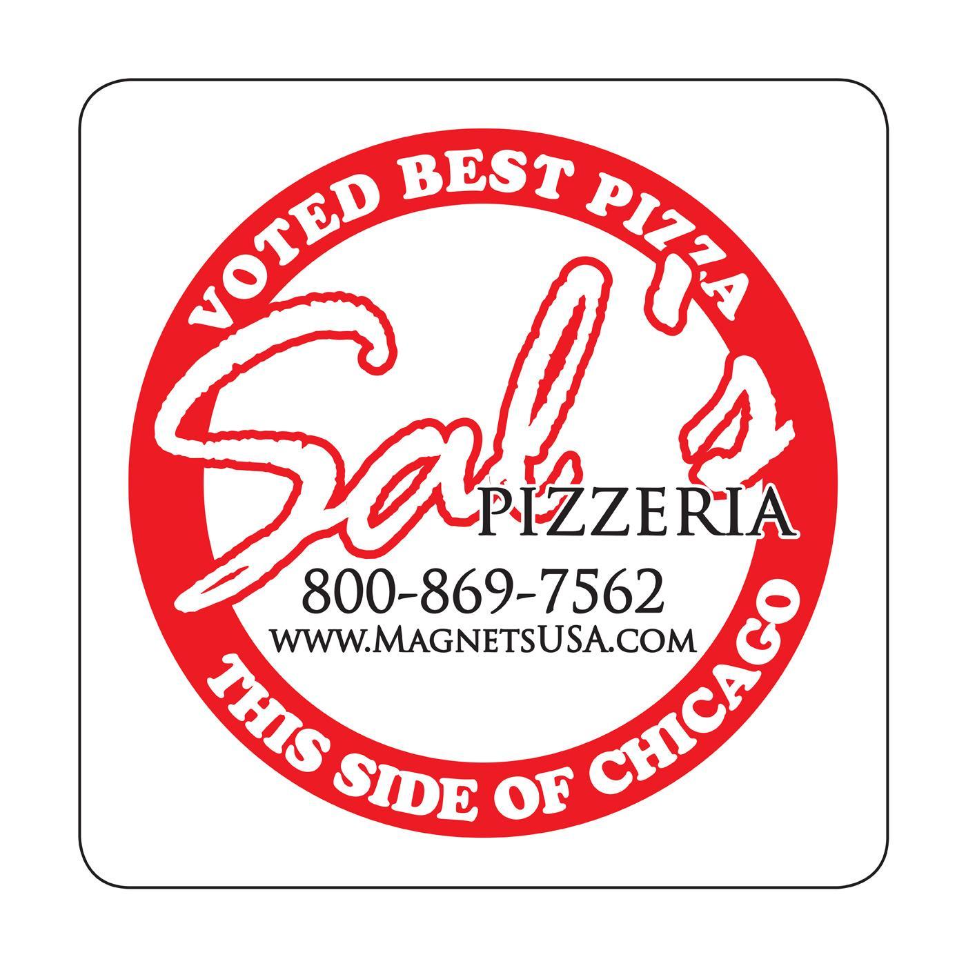 Logo Pizza Square Magnet
