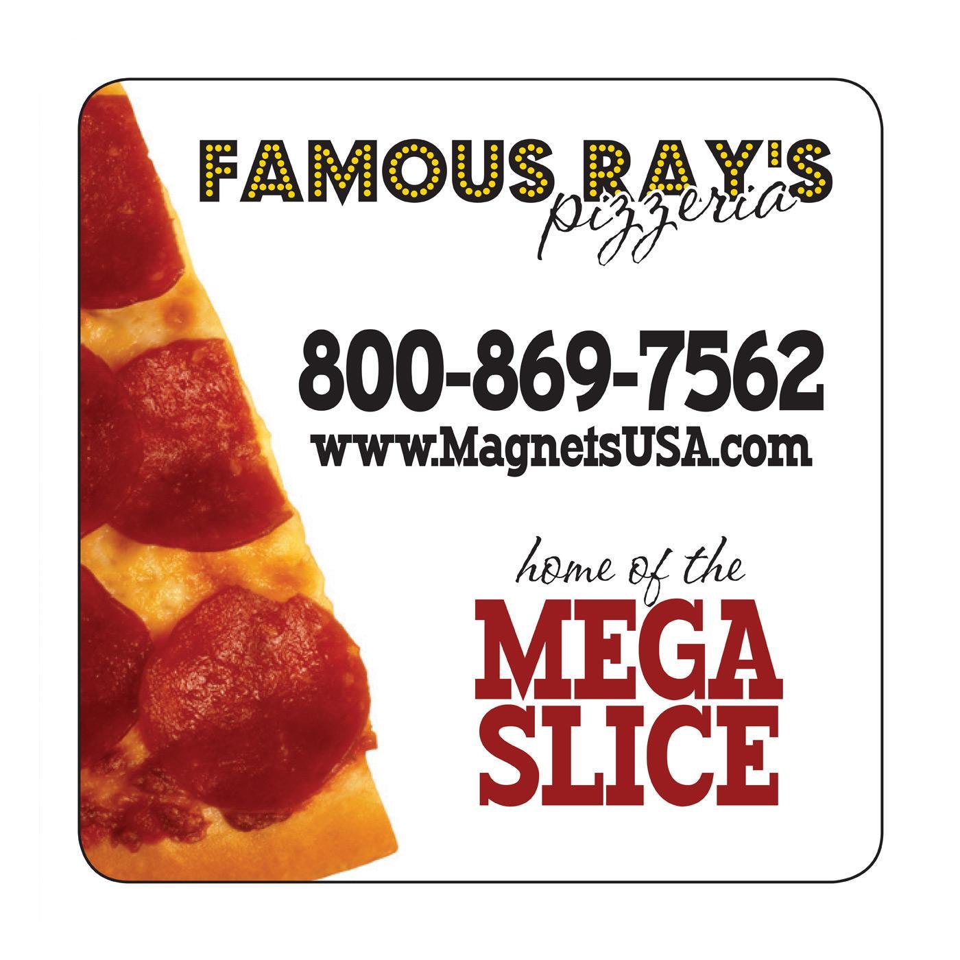 Pizza Slice Pizza Square Magnet