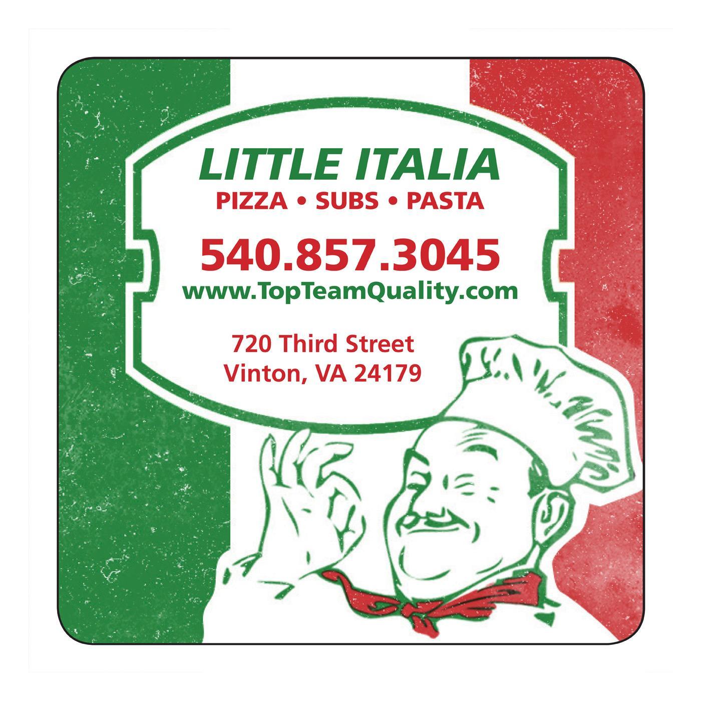 Italian Chef Pizza Square Magnet
