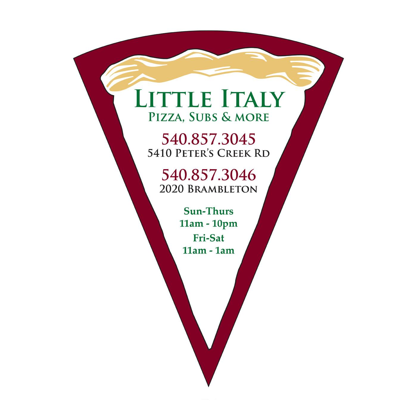 Pizza Slice Graphic Fridge Magnet