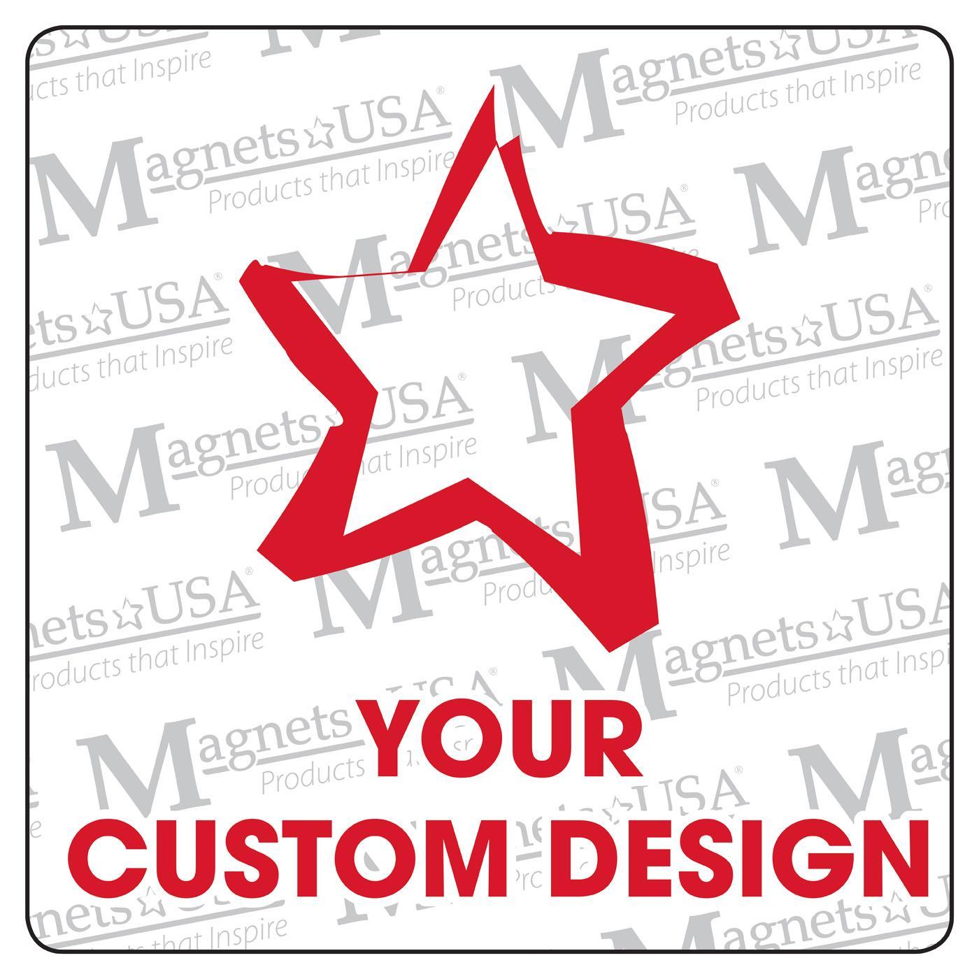 """Custom 3"""" Square Magnet"""