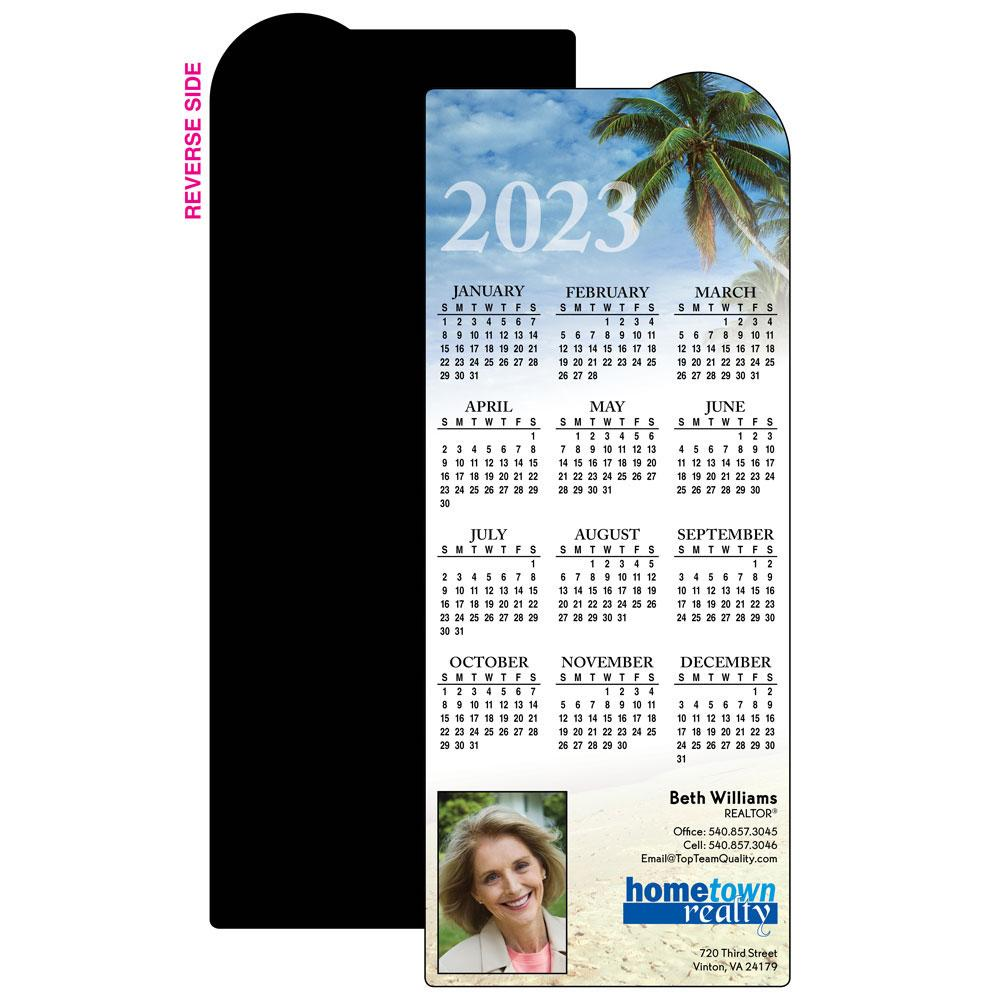 Calendar Magnet w/ Palm Tree Design
