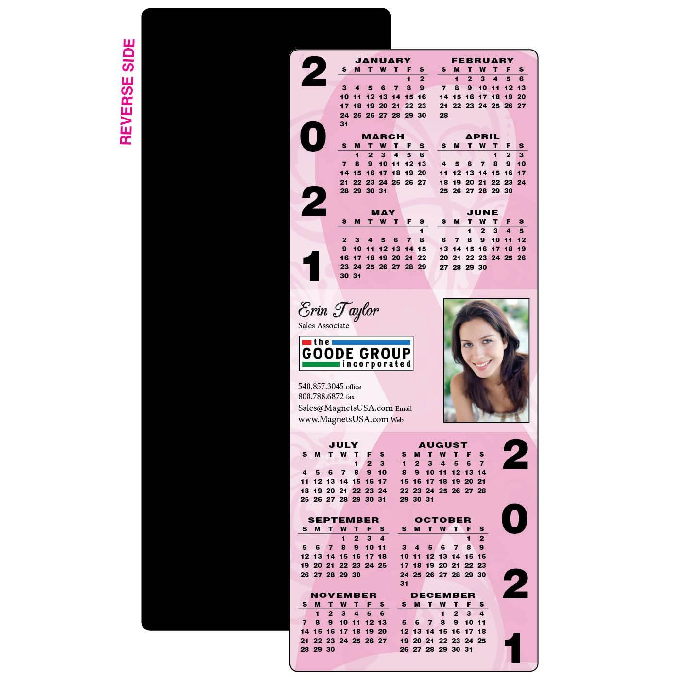 Breast Cancer Full Calendar Magnet