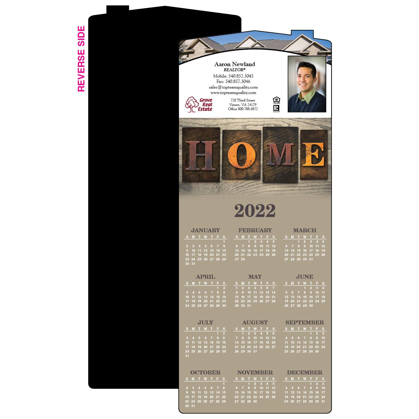 Calendar Magnet with House Magnet
