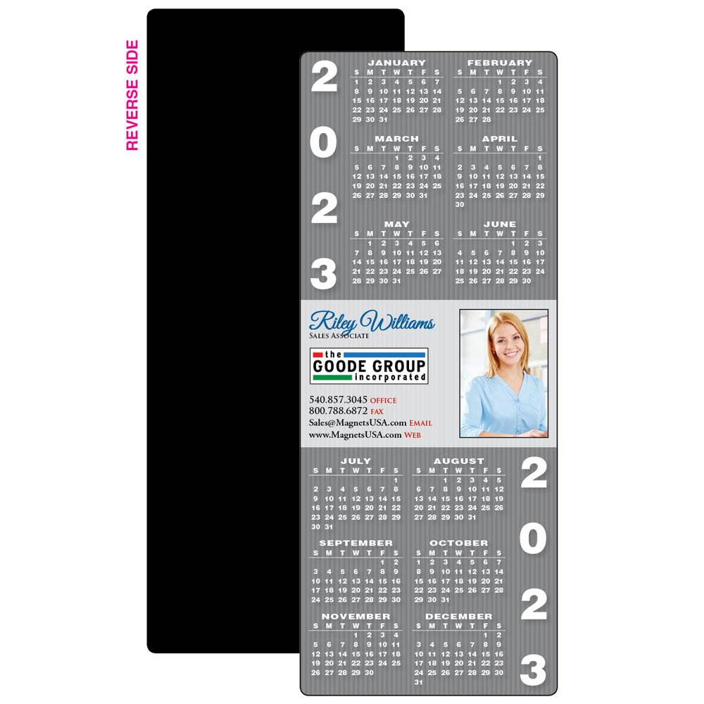 Calendar Magnet with Pinstripes