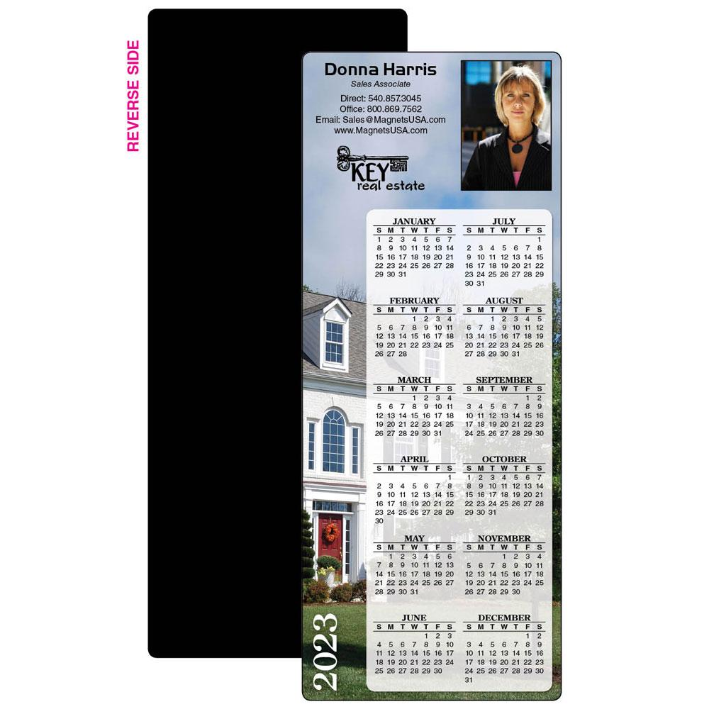 Calendar Magnet with House Scene