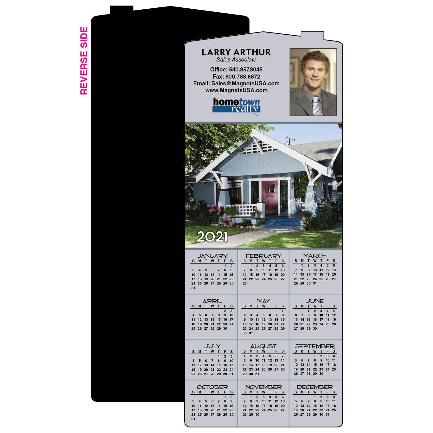 Calendar Magnet with Craftsman Home