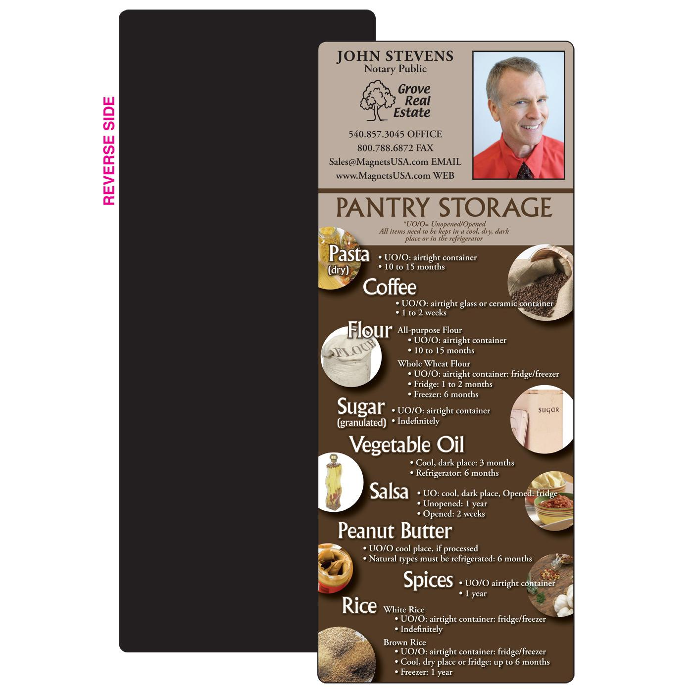 Pantry Storage Guidelines Magnet