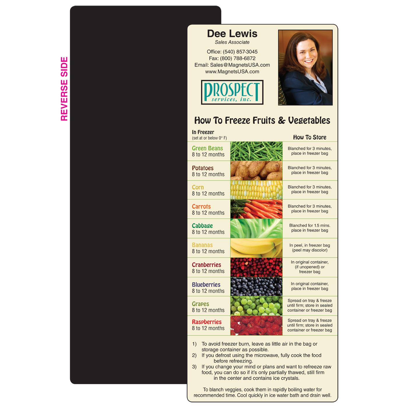 Produce Freezer Guide Full Magnet
