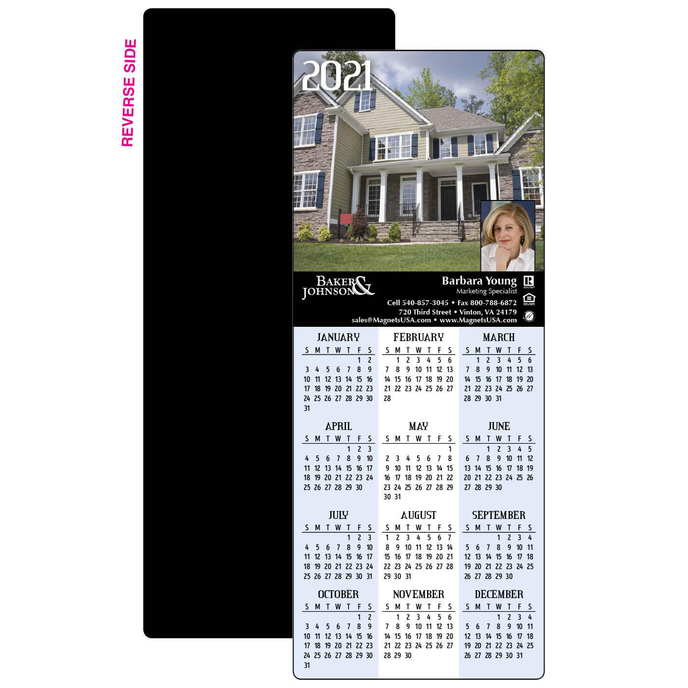 Calendar Magnet with Home Scene