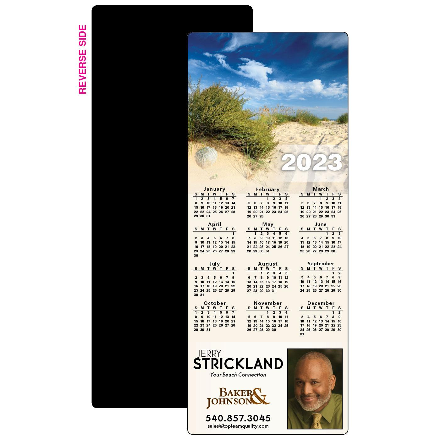 Calendar Magnet with Sand Dunes