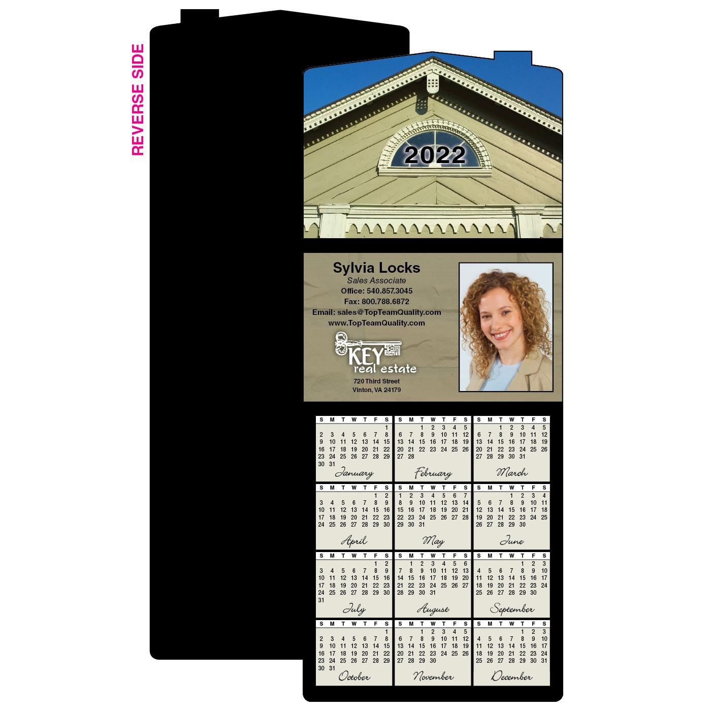 Calendar Magnet with House Photo