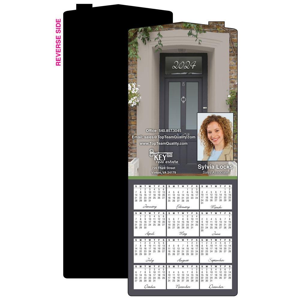Calendar Magnet with Doorway Photo