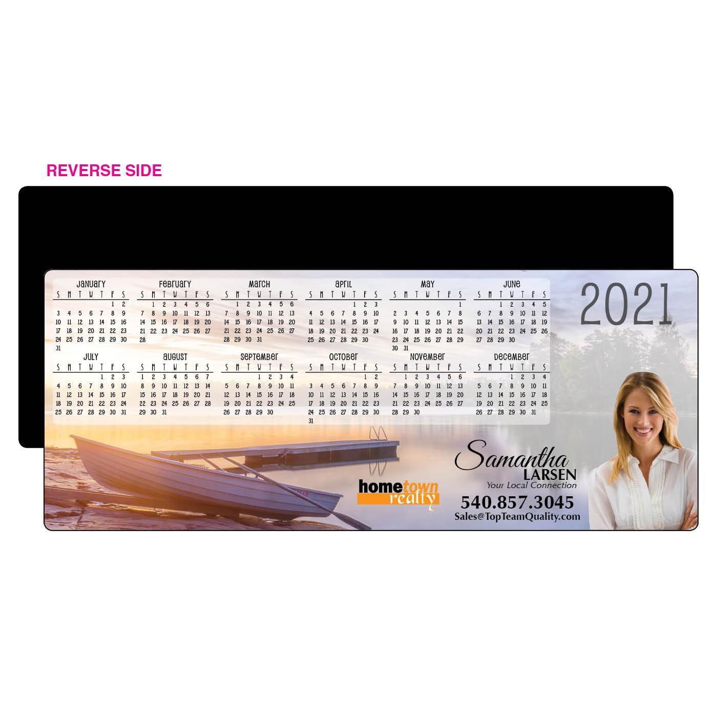 Calendar Magnet with Lake Scene