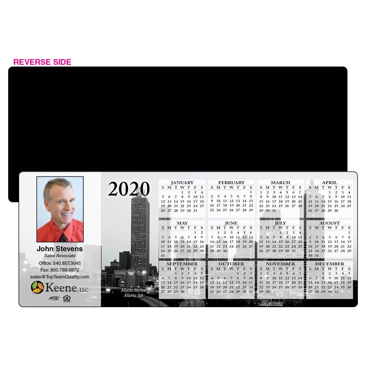 Atlanta Calendar - January 14-15 2019 Year At A Glance Calendar Mag  Standard 3.5x8.75   City Skyline