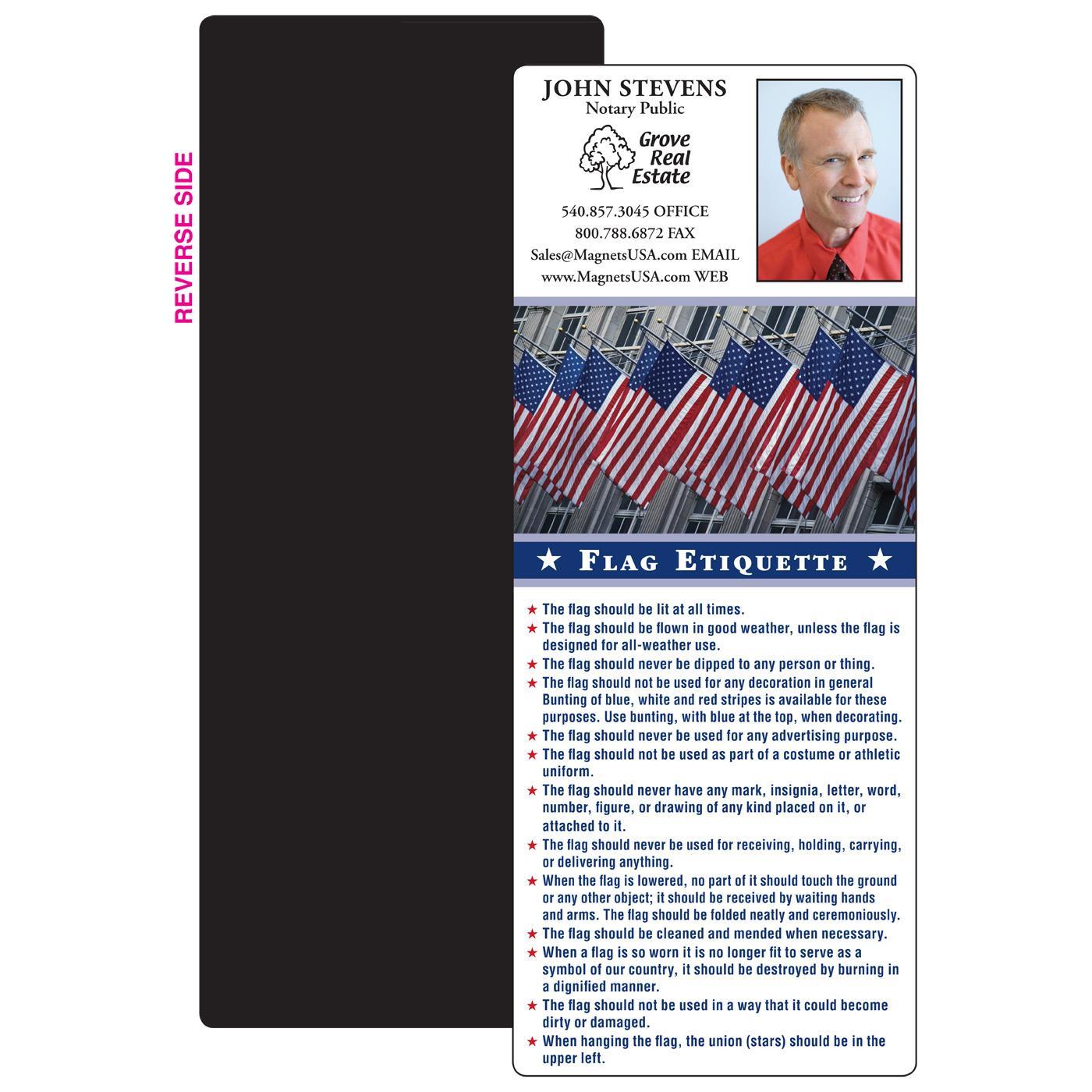 Flag Etiquette Full Magnet