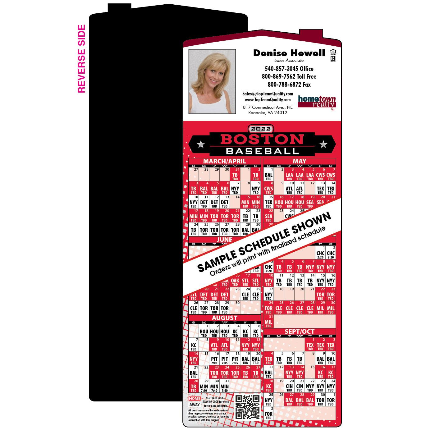 Baseball Schedule Marketing Magnet
