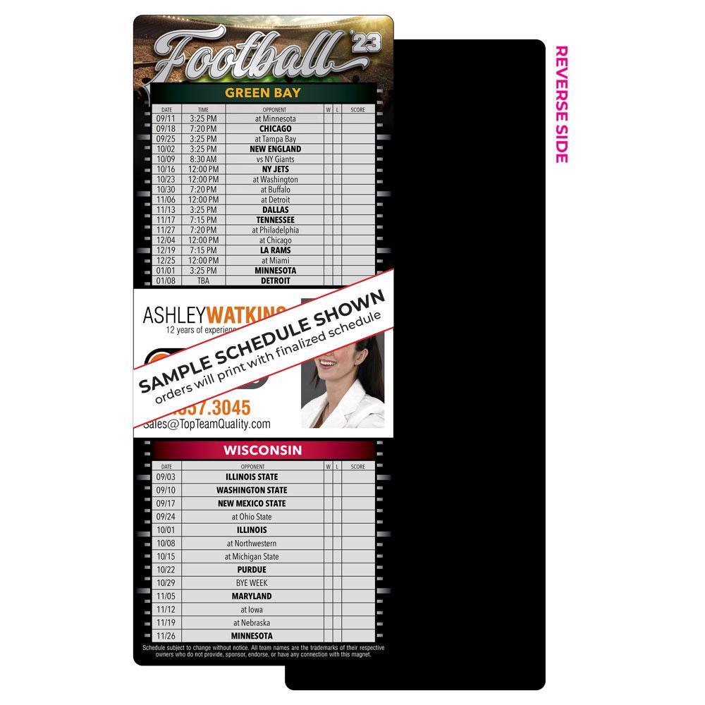 2 Team Full Magnet Football Schedul