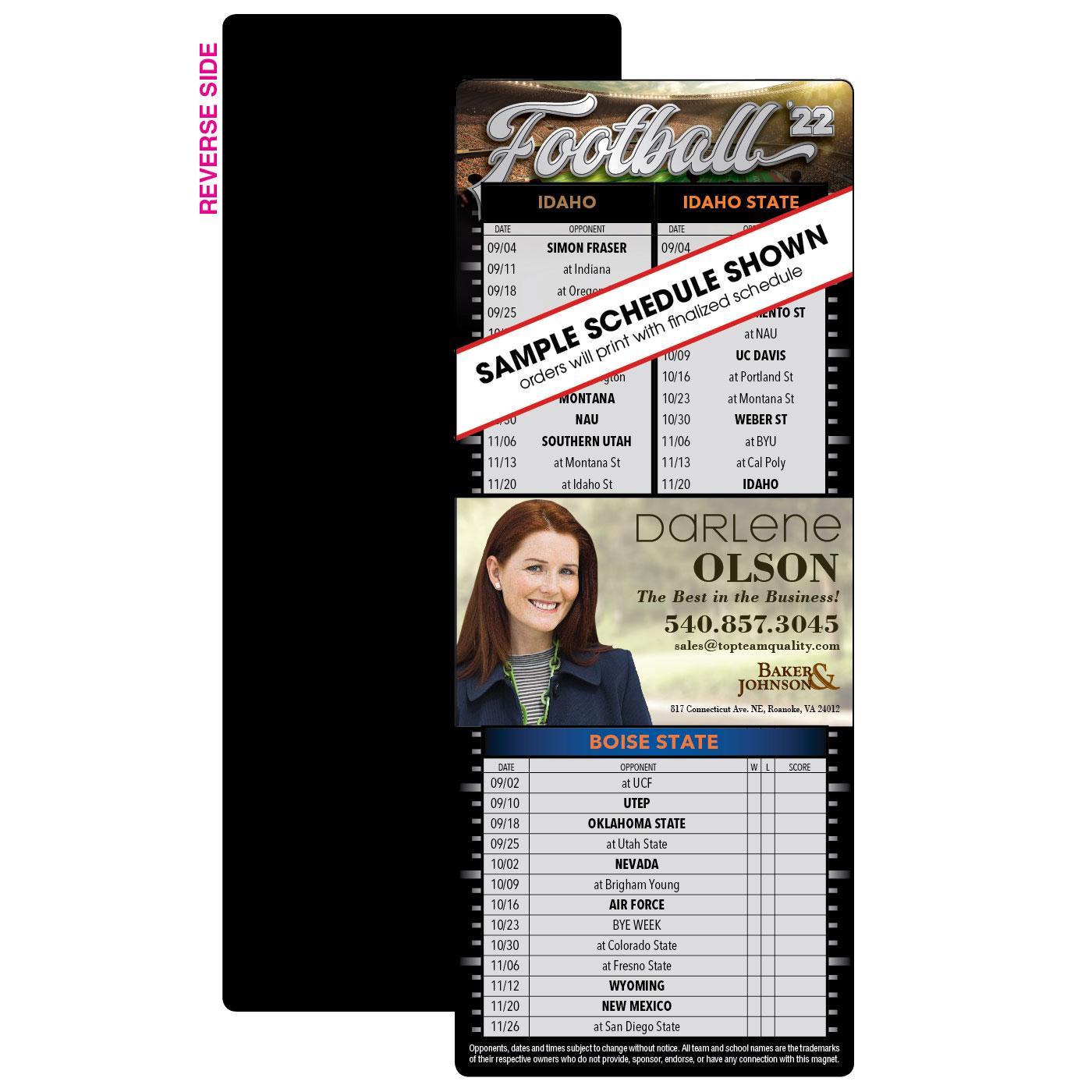 3 Team Full Magnet Football Schedul