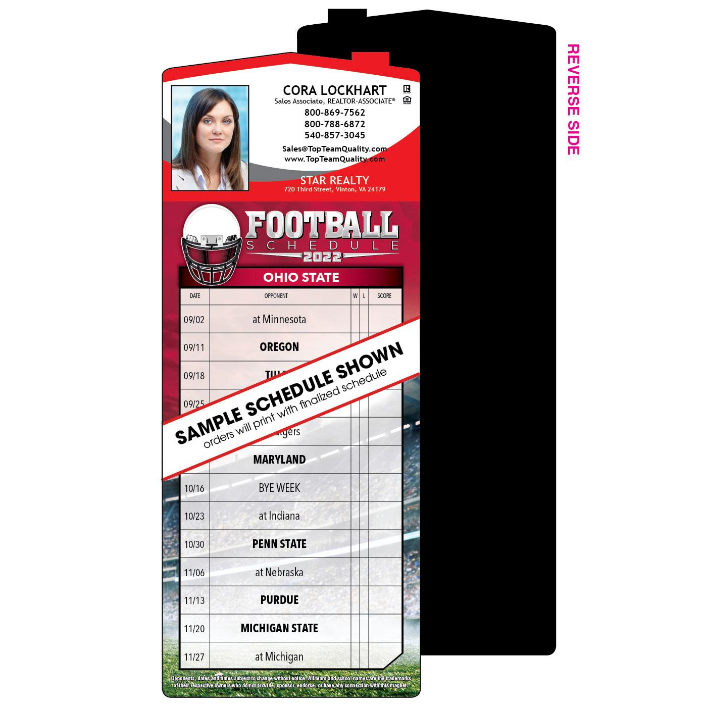 1-Team Full Magnet Football Schedul