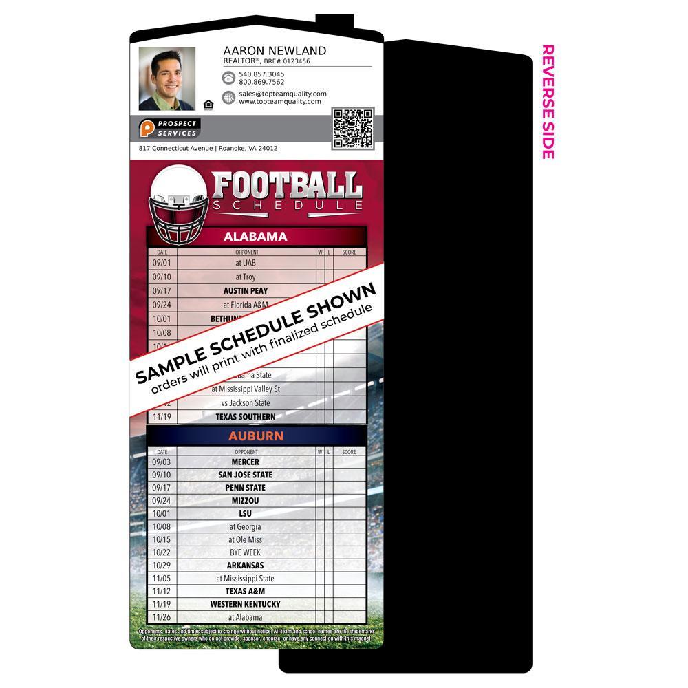 Spirit Sky Football Schedule Magnet
