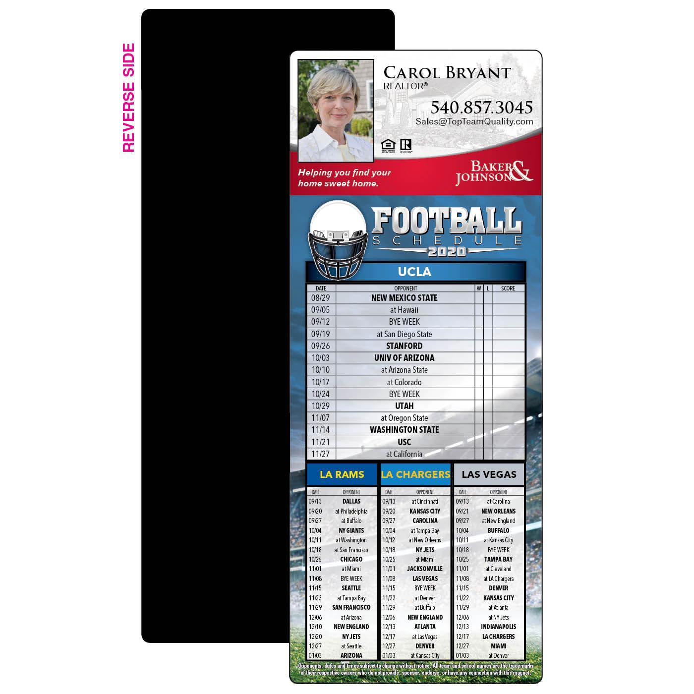 4 Team spirit sky football magnet