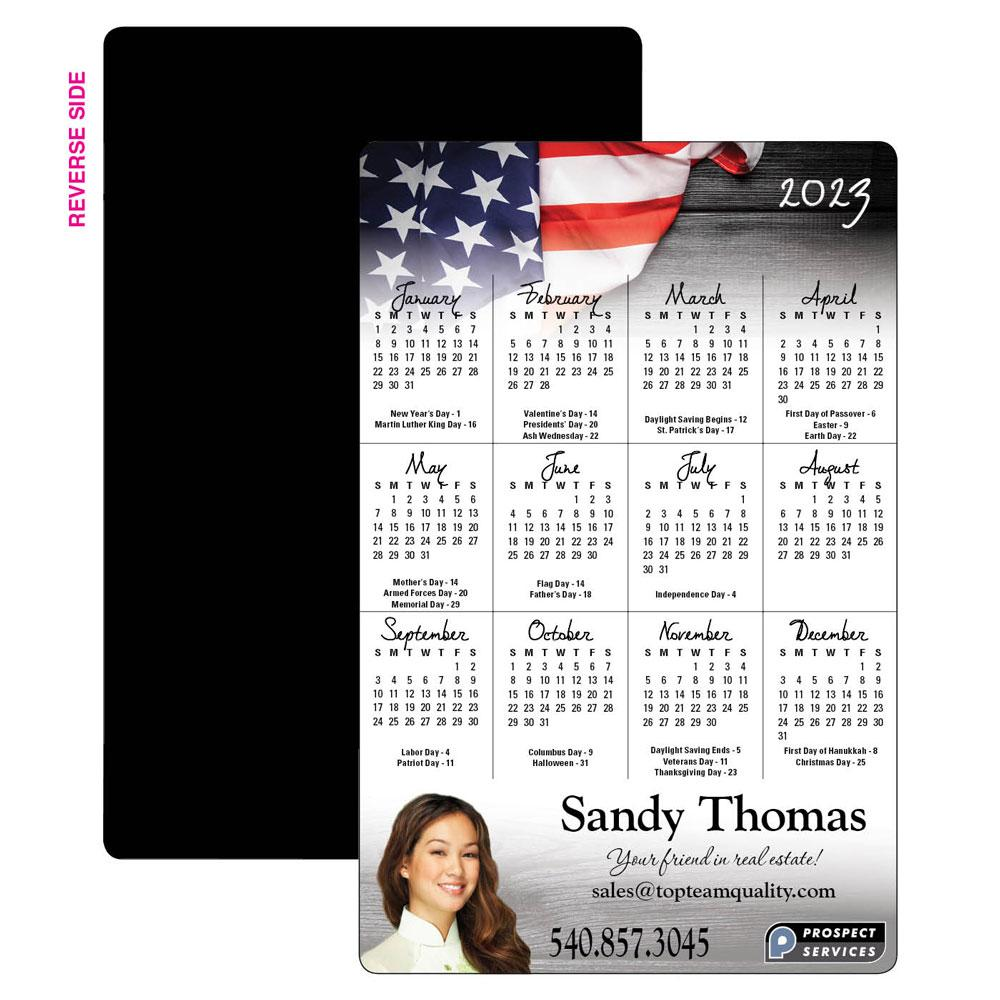 Calendar Magnet with Color Headers