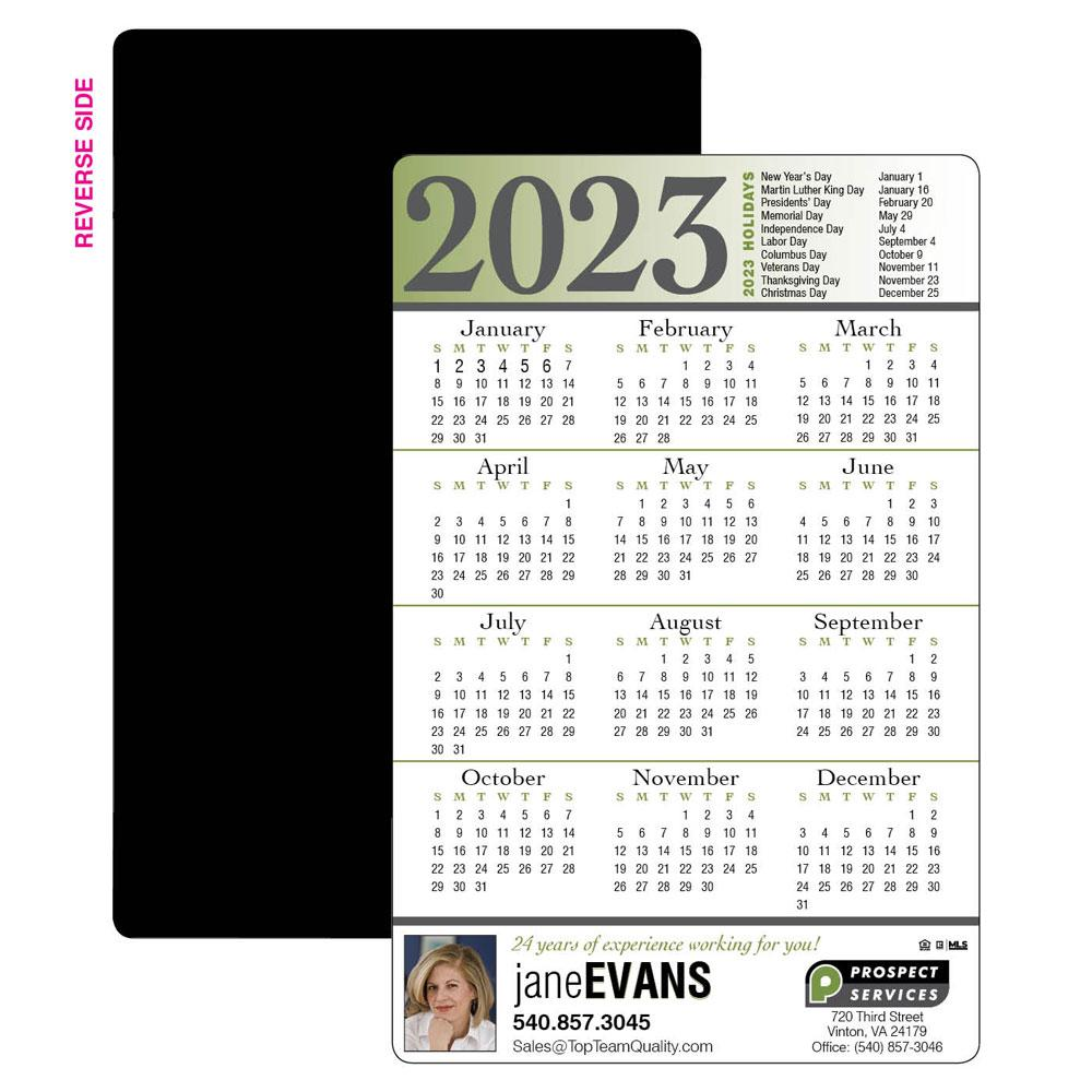 Year-at-a-Glance Calendar Magnet
