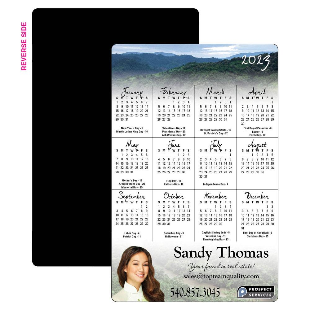 Calendar Magnet with American Flag