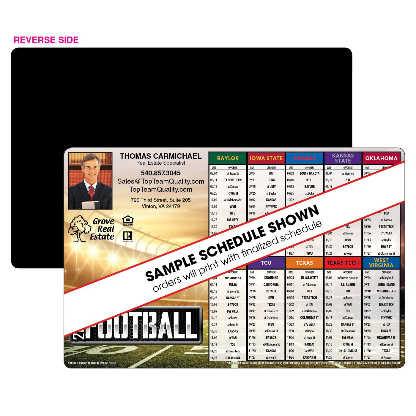 10 Team Jumbo Football Schedule