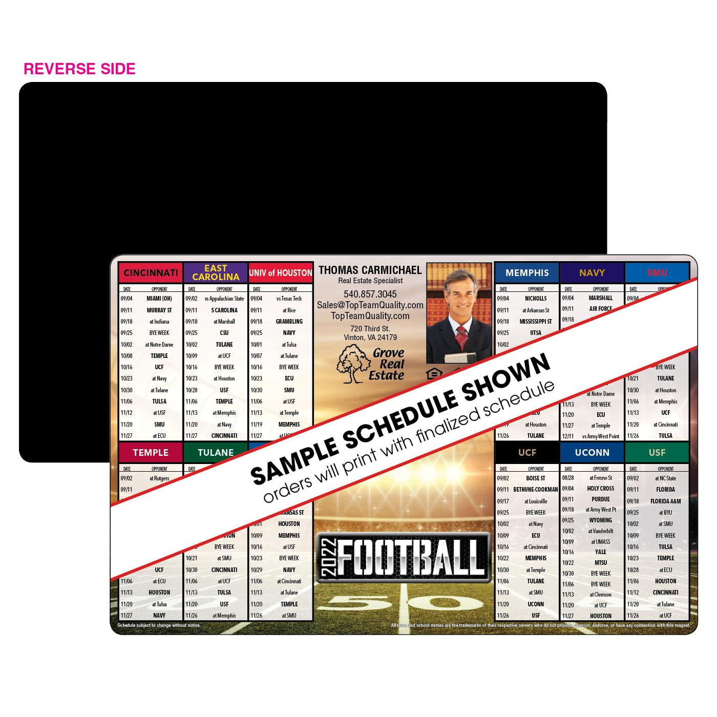12 Team Jumbo Football Magnet