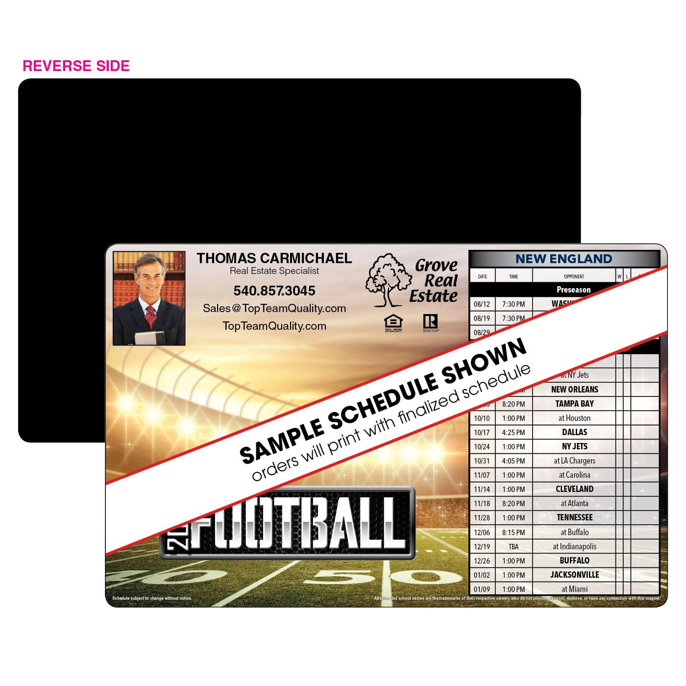 1-Team Jumbo Football Magnet