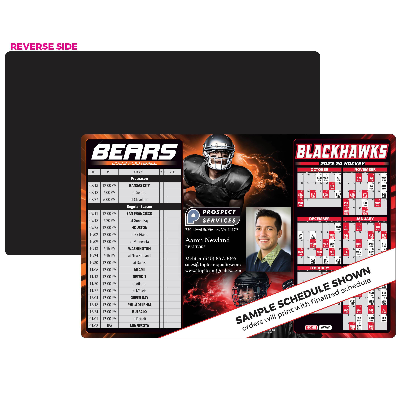 bears blackhawks schedule magnet