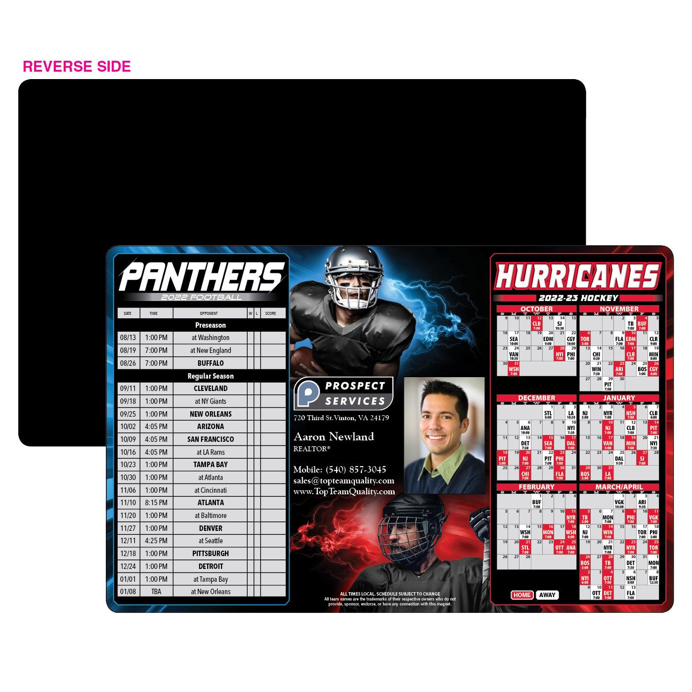 Panthers Hurricanes Schedule Magnet