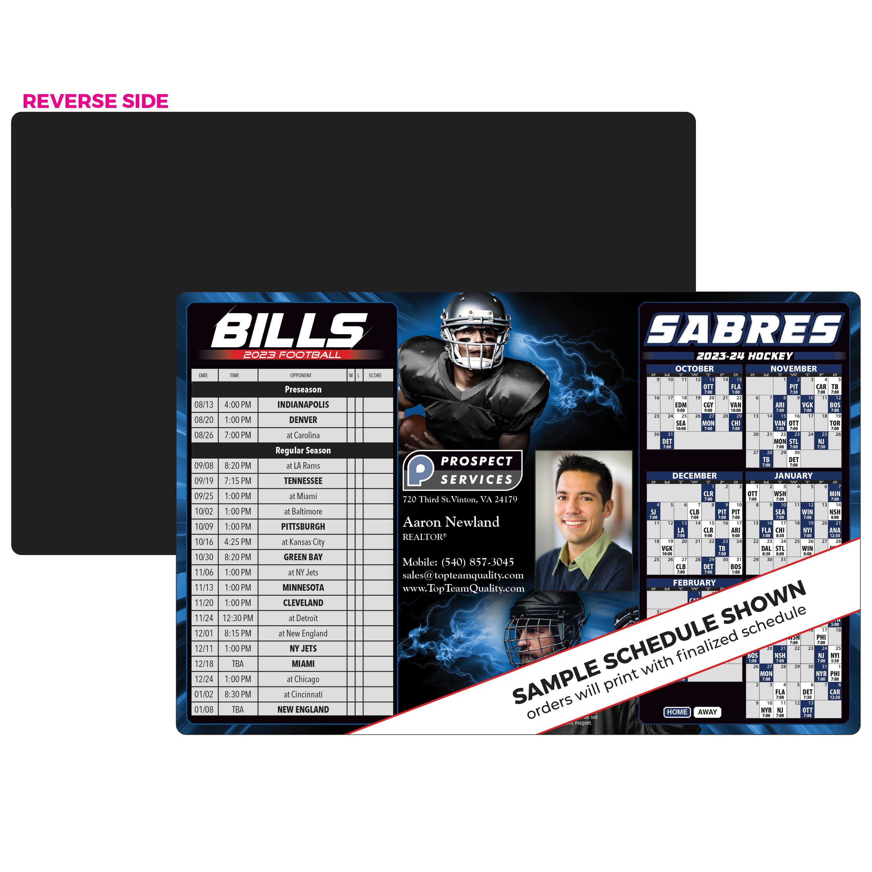 Bills Sabres Schedule Magnet