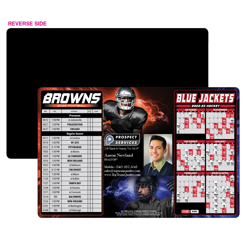 browns blue jackets sports schedule
