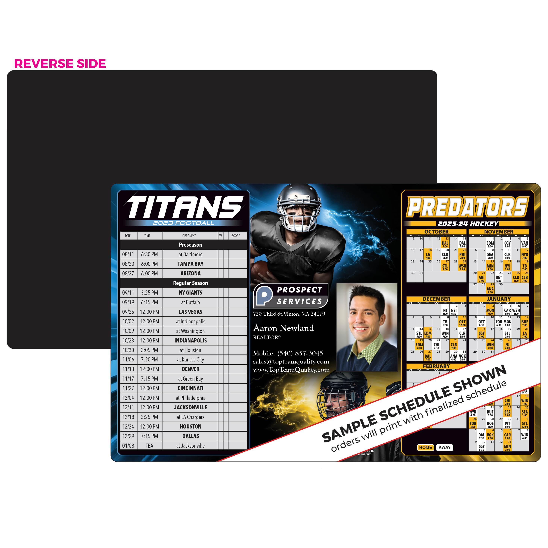 titans predators schedule magnet