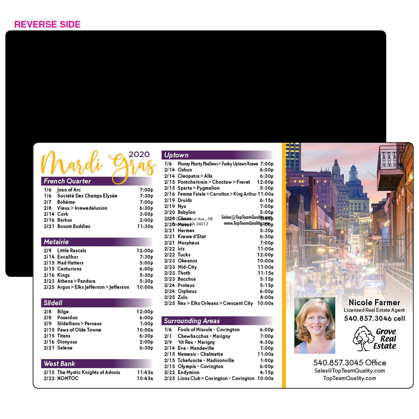 Mardi Gras Festival Schedule Magnet