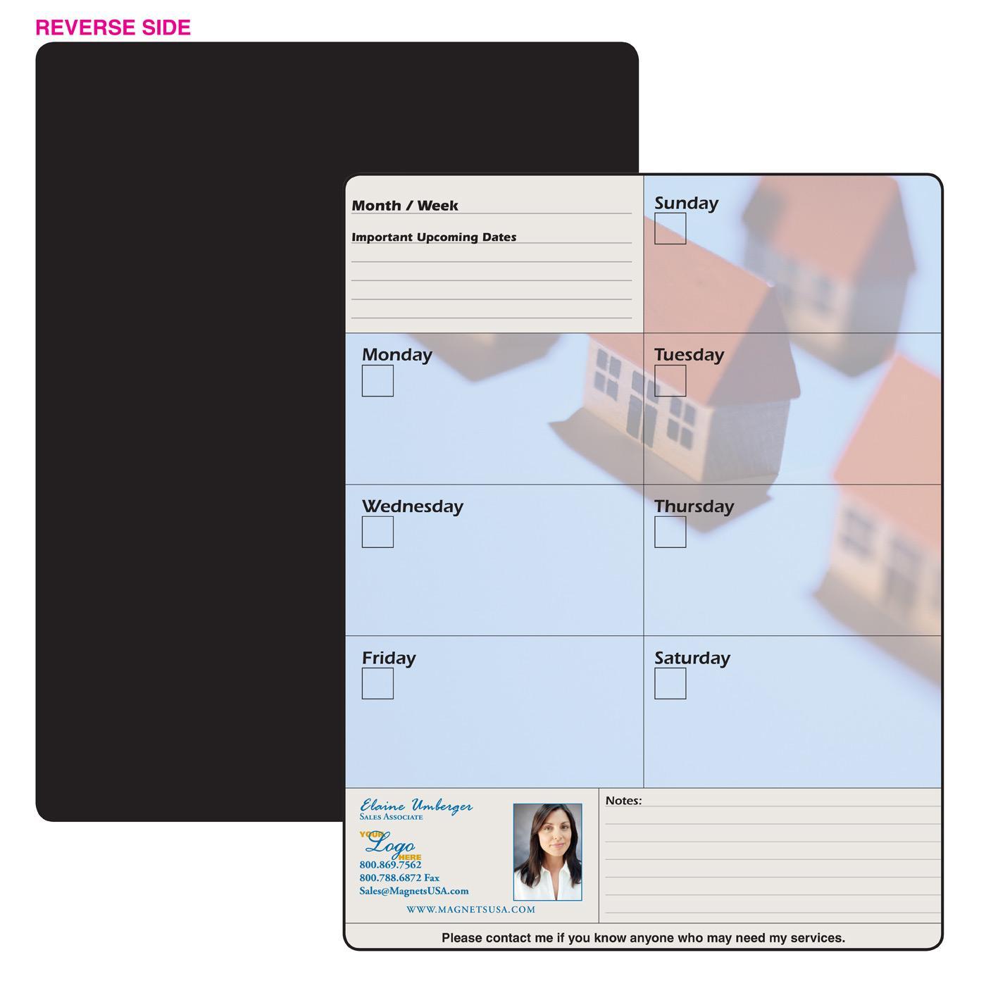 memo board full magnet weekly planner