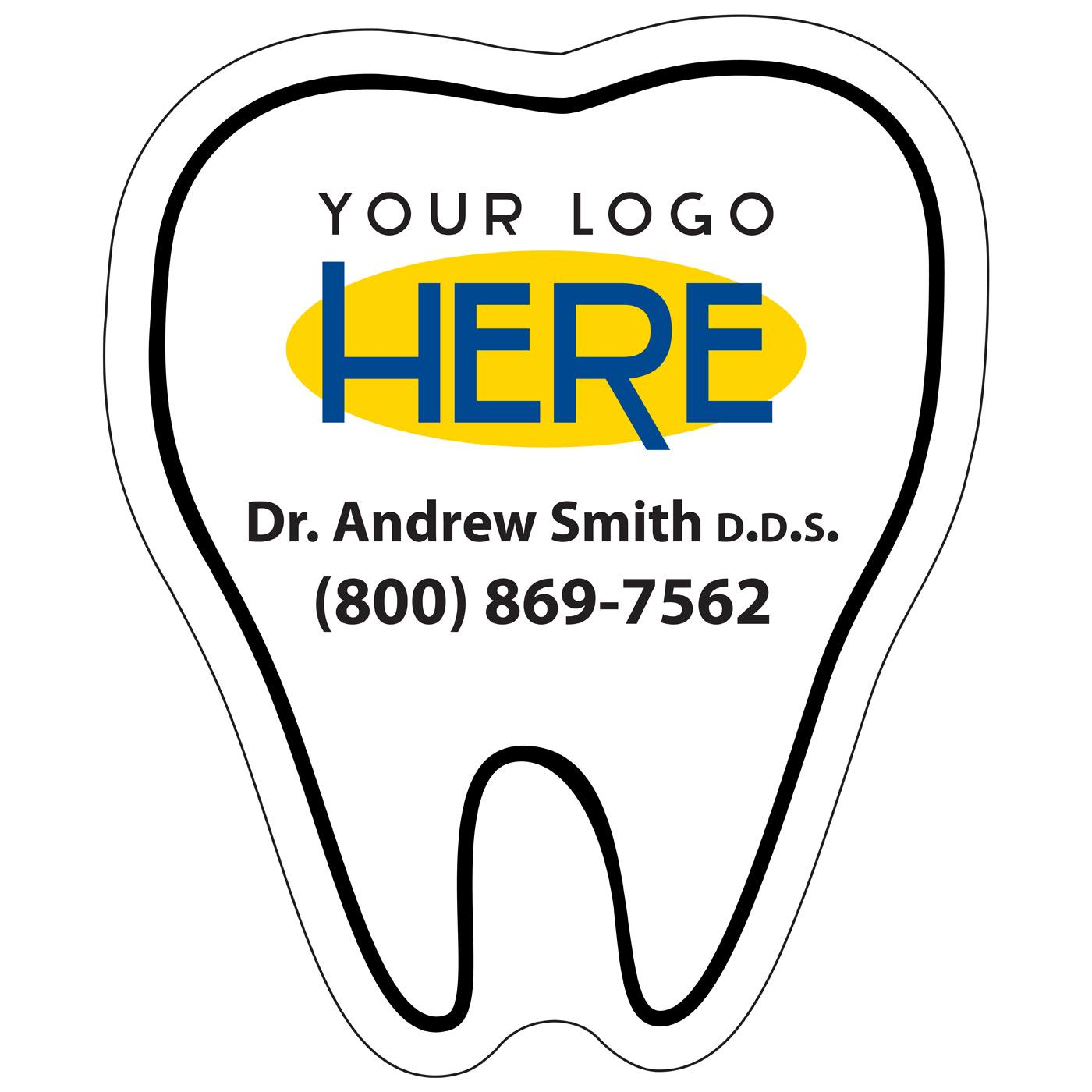 Tooth-shaped magnet for dentist