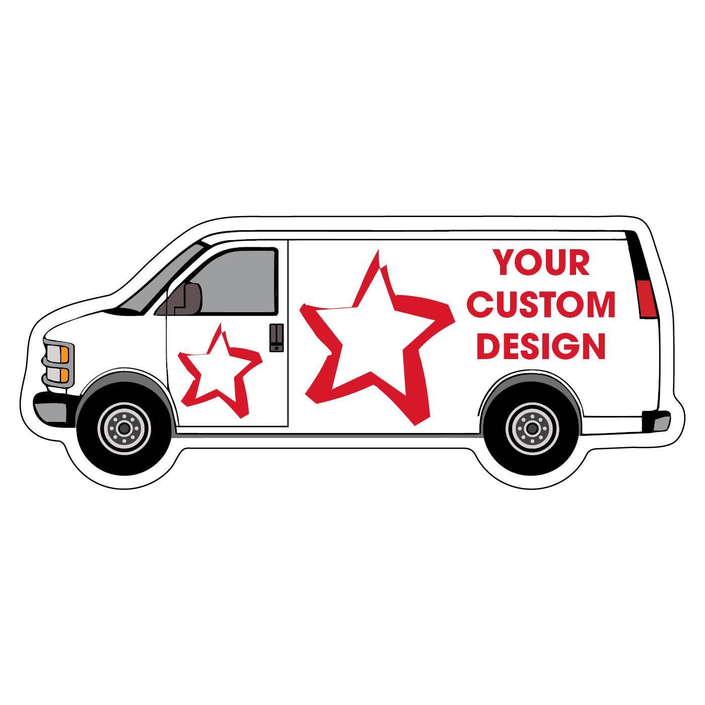 Custom Van Shaped Fridge Magnet