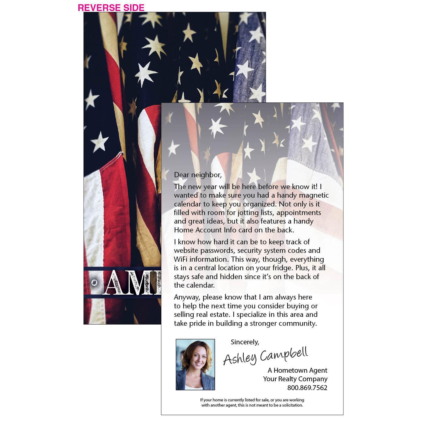 American Flag insert letter